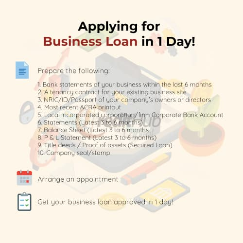 Small Business Loan Singapore - 1 Day Approval. Best Rates.