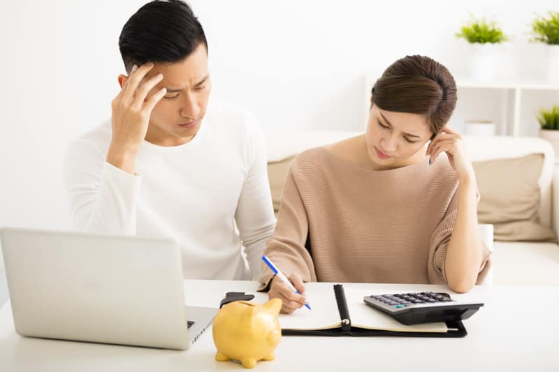 Husband Wife Thinking About Financials